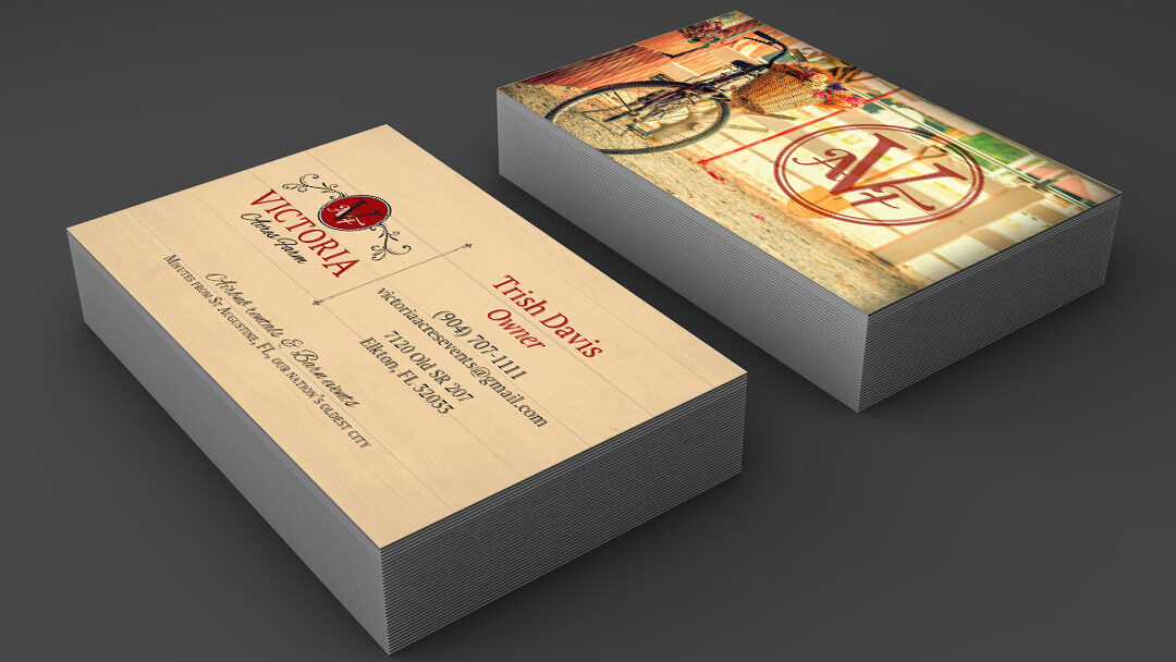 Victoria Acres Farm Business Card