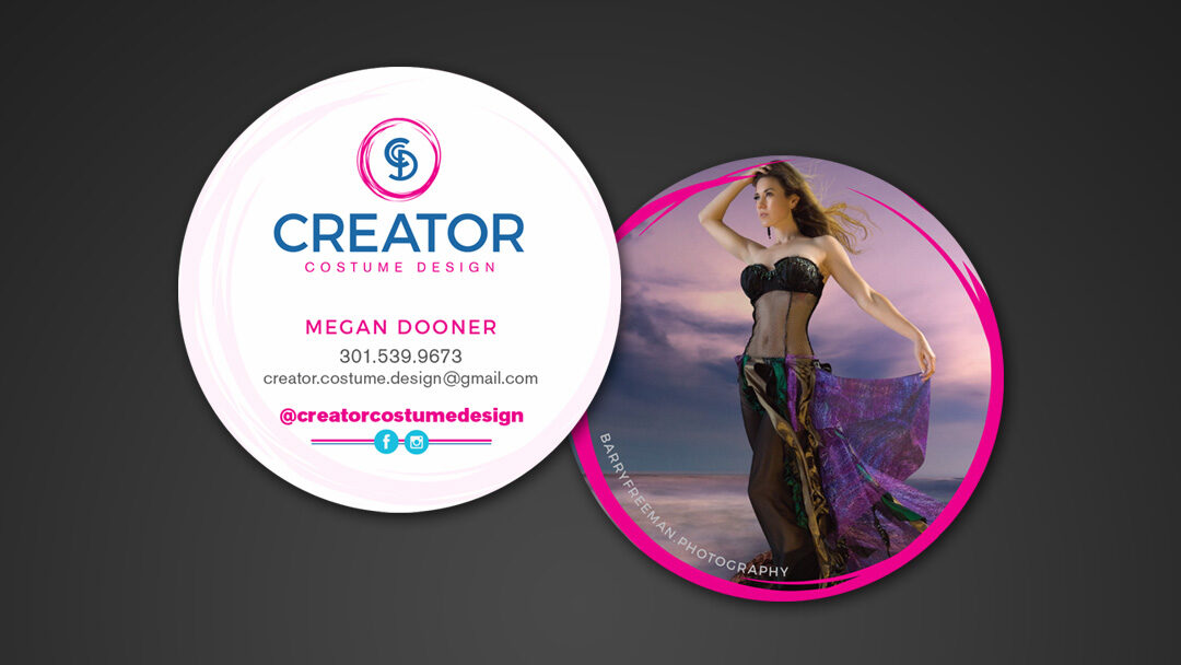 Creator Costume Design Business Card