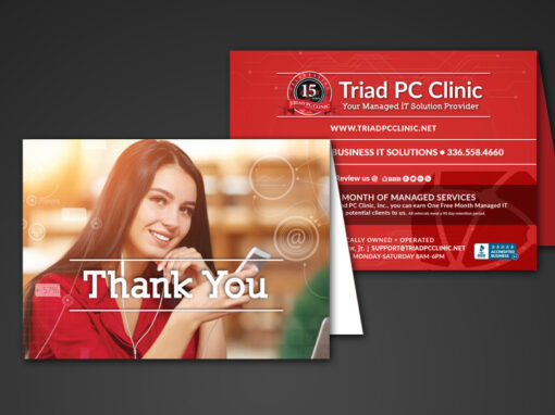 Triad PC Clinic Thank You Card