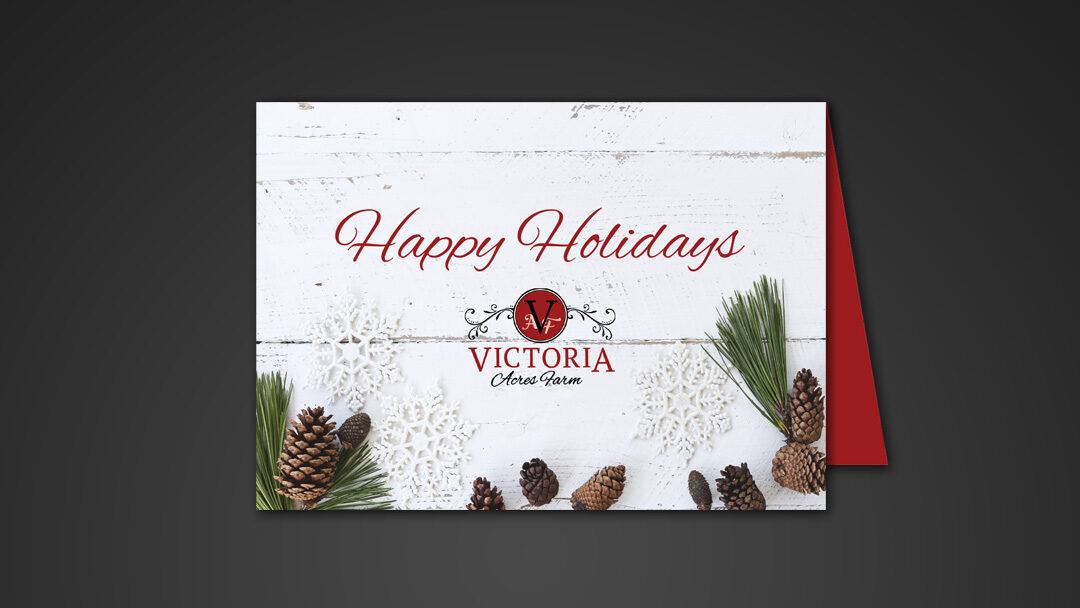 Victoria Acres Farm Holiday Card